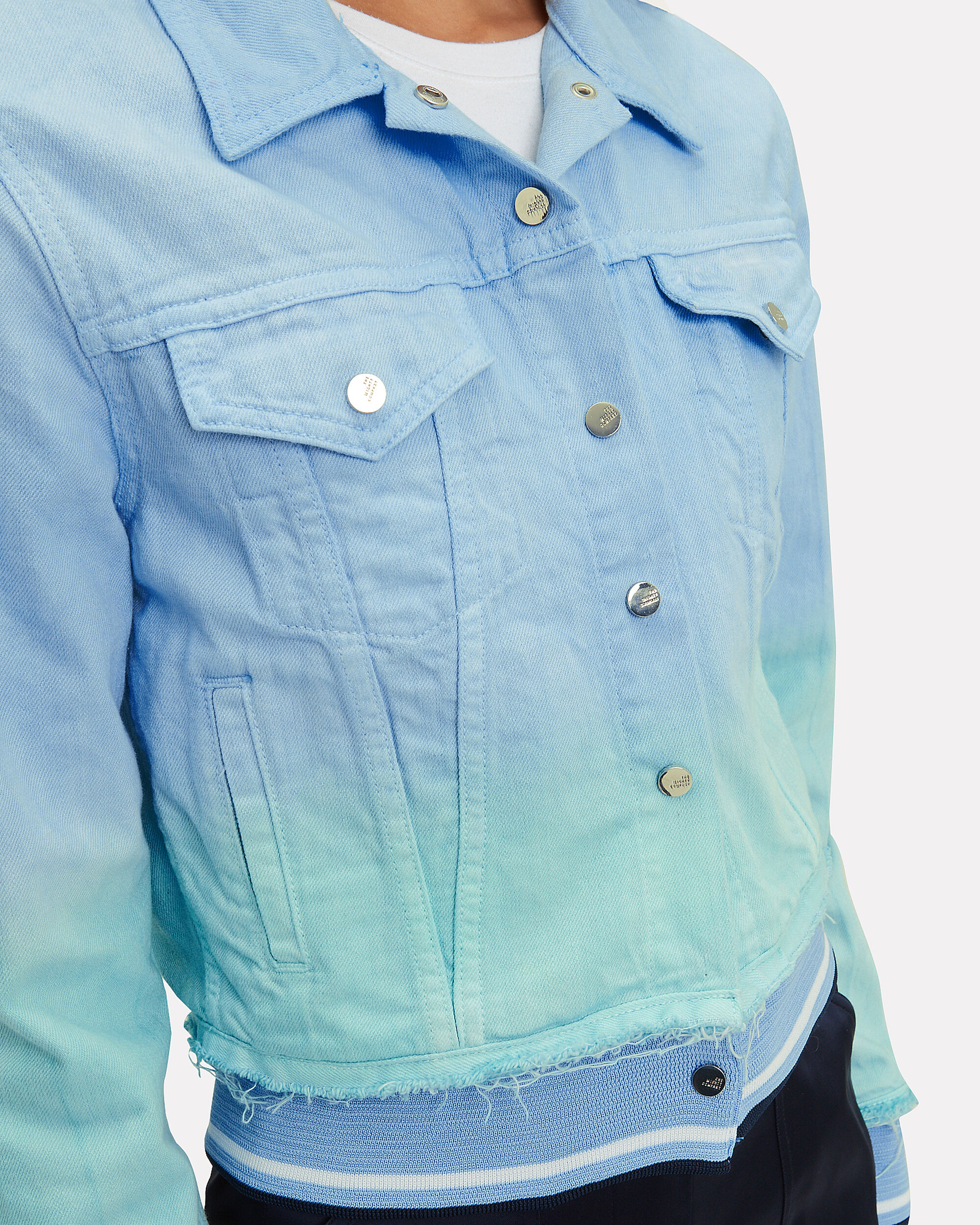 The Northampton Blue Denim Ribbed Jacket, BLUE, hi-res