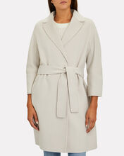 Arona Belted Wool Wrap Coat, IVORY, hi-res