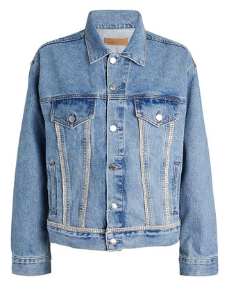 Kim Embellished Denim Jacket, DENIM-LT, hi-res