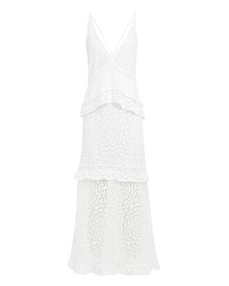 Helia Floral Lace Dress, WHITE, hi-res