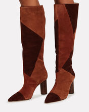 Jerri Knee-High Suede Boots, BROWN, hi-res