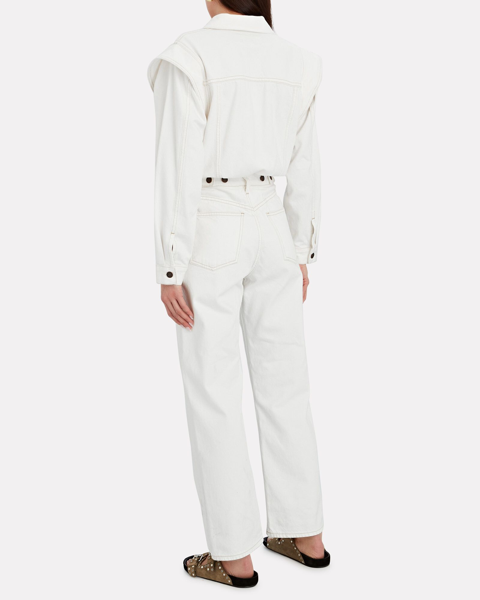 Reyna Denim Jumpsuit, PORCELAIN, hi-res