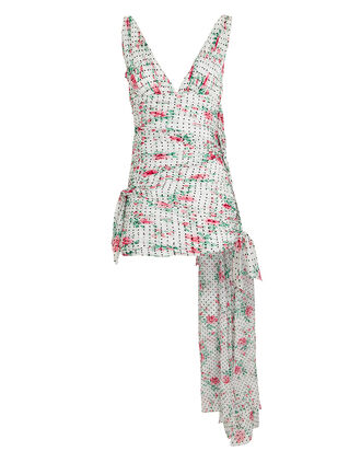 Floral High-Low Dress, WHITE/ROSE, hi-res
