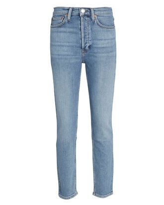 High-Rise Ankle Crop Jeans, , hi-res