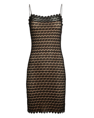 Beaux Lace Mini Dress, BLACK/BEIGE, hi-res