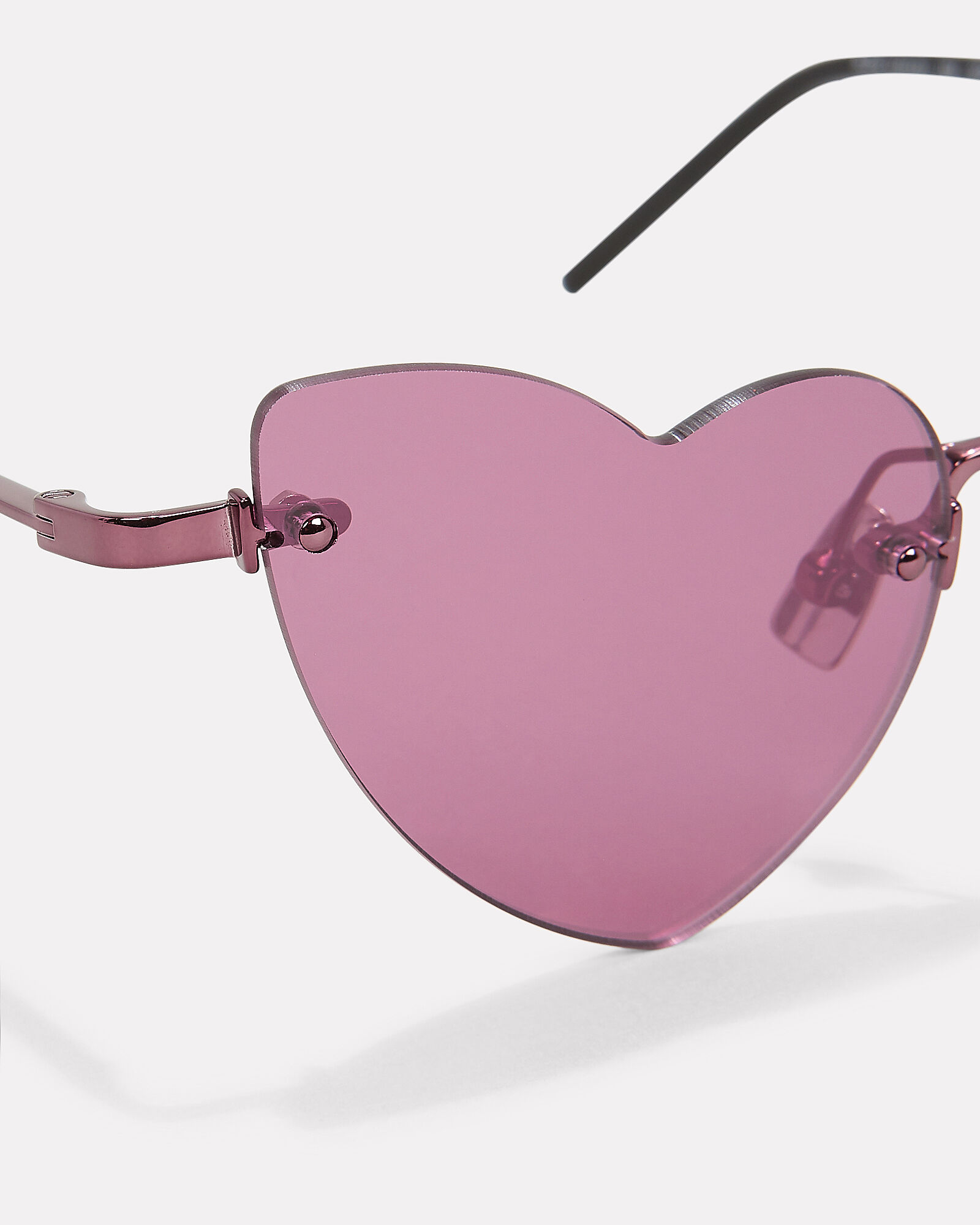 Loulou Rimless Heart Sunglasses, PINK, hi-res