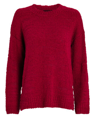 Suz Oversized Wool Sweater, SCARLET, hi-res
