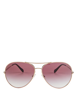 Sayer Oversized Aviator Sunglasses, ROSE, hi-res
