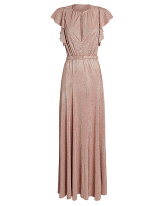 Topaz Flutter Sleeve Gown, BLUSH, hi-res