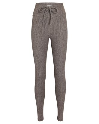 Ribbed Football Leggings, GREY, hi-res