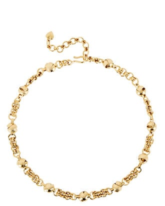 Billie Knot Chain Necklace, GOLD, hi-res