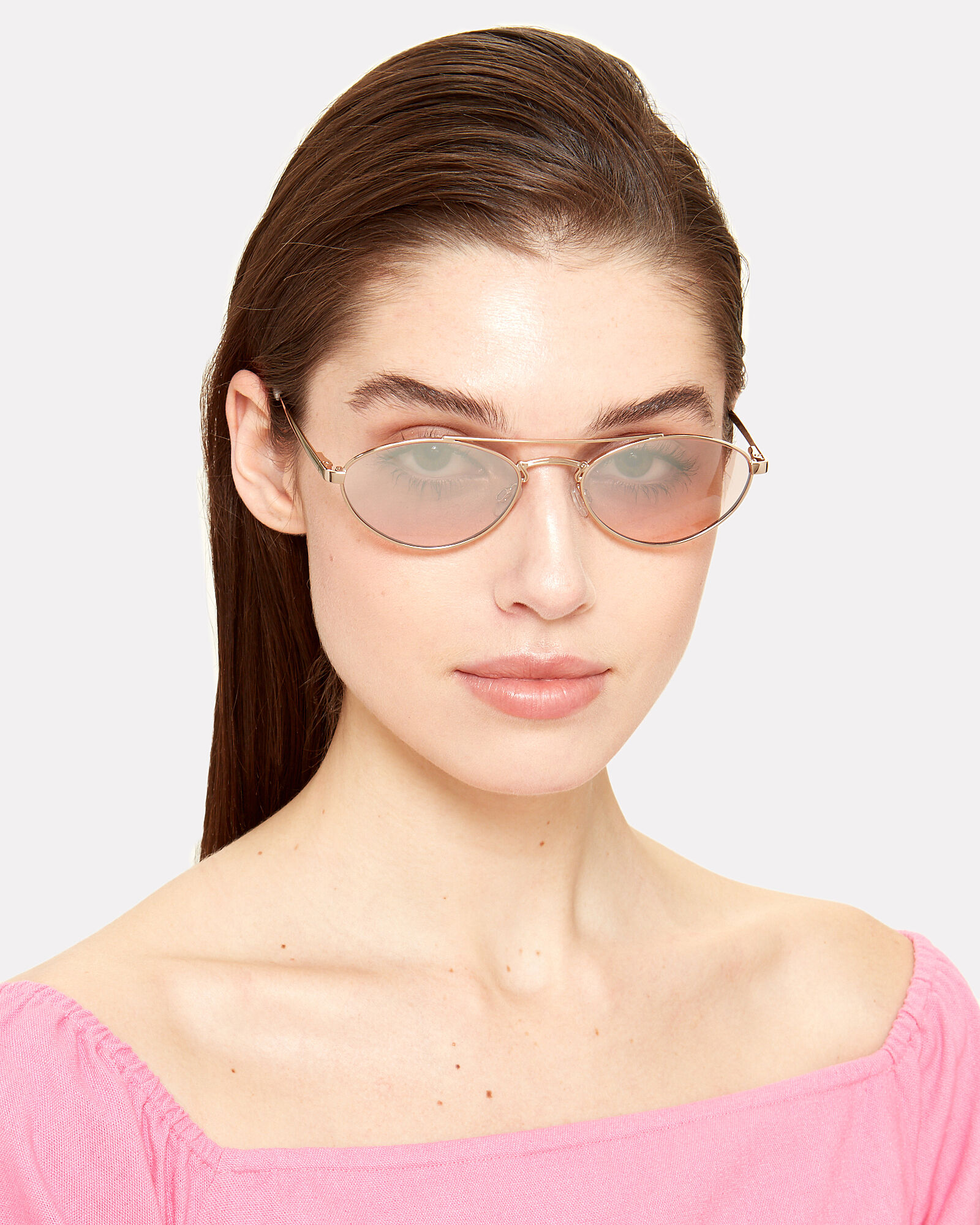 Elliptical Liaison Sunglasses, GOLD/ROSE, hi-res