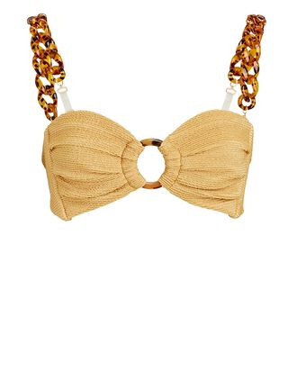 Tori Chain Strap Bikini Top, GOLD, hi-res