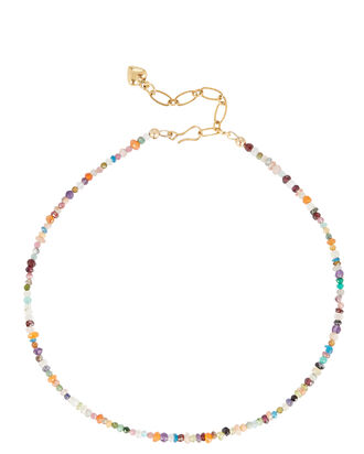 Jewel Beaded Necklace, MULTI, hi-res