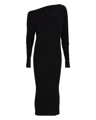 Slouch Midi Sweater Dress, BLACK, hi-res