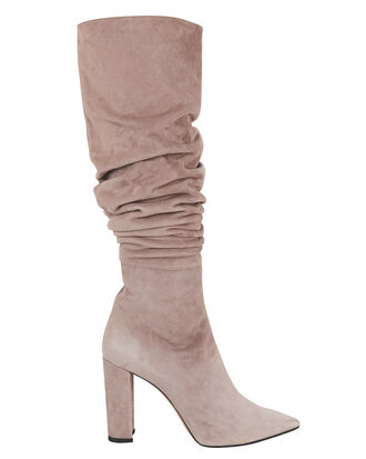 Kendal Slouchy Grey Boots, GREY, hi-res