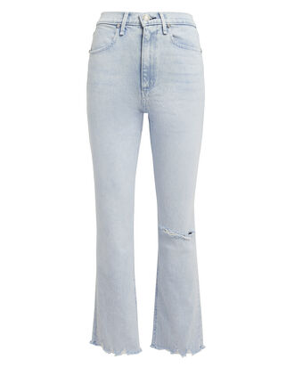 Ankle Distressed Cigarette Jeans, LIGHT BLUE DENIM, hi-res