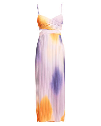 Sienna Ombré Midi Dress, ORANGE/PURPLE/BLUSH, hi-res