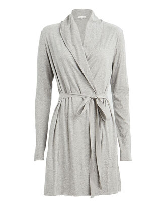 Double Layer Pima Cotton Robe, HEATHER GREY, hi-res