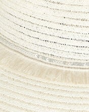 Courtney Fringed Straw Fedora, IVORY, hi-res