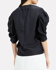 Midnight Puff-Sleeved Top, MIDNIGHT BLUE, hi-res