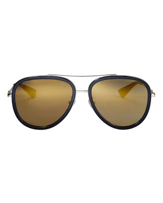 Gold Lens Aviator Sunglasses, BLACK, hi-res