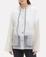 Printed White Raincoat, WHITE, hi-res