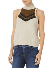 Lurex Striped Turtleneck, BEIGE, hi-res