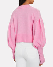 Coline Puff Sleeve Sweater, PINK, hi-res