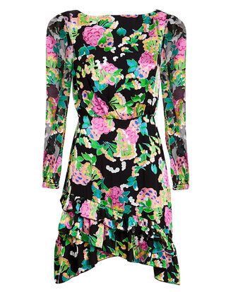 Felice Mini Dress, BLACK/FLORAL, hi-res