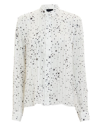 Blythe Polaris Button Down Top, WHITE, hi-res