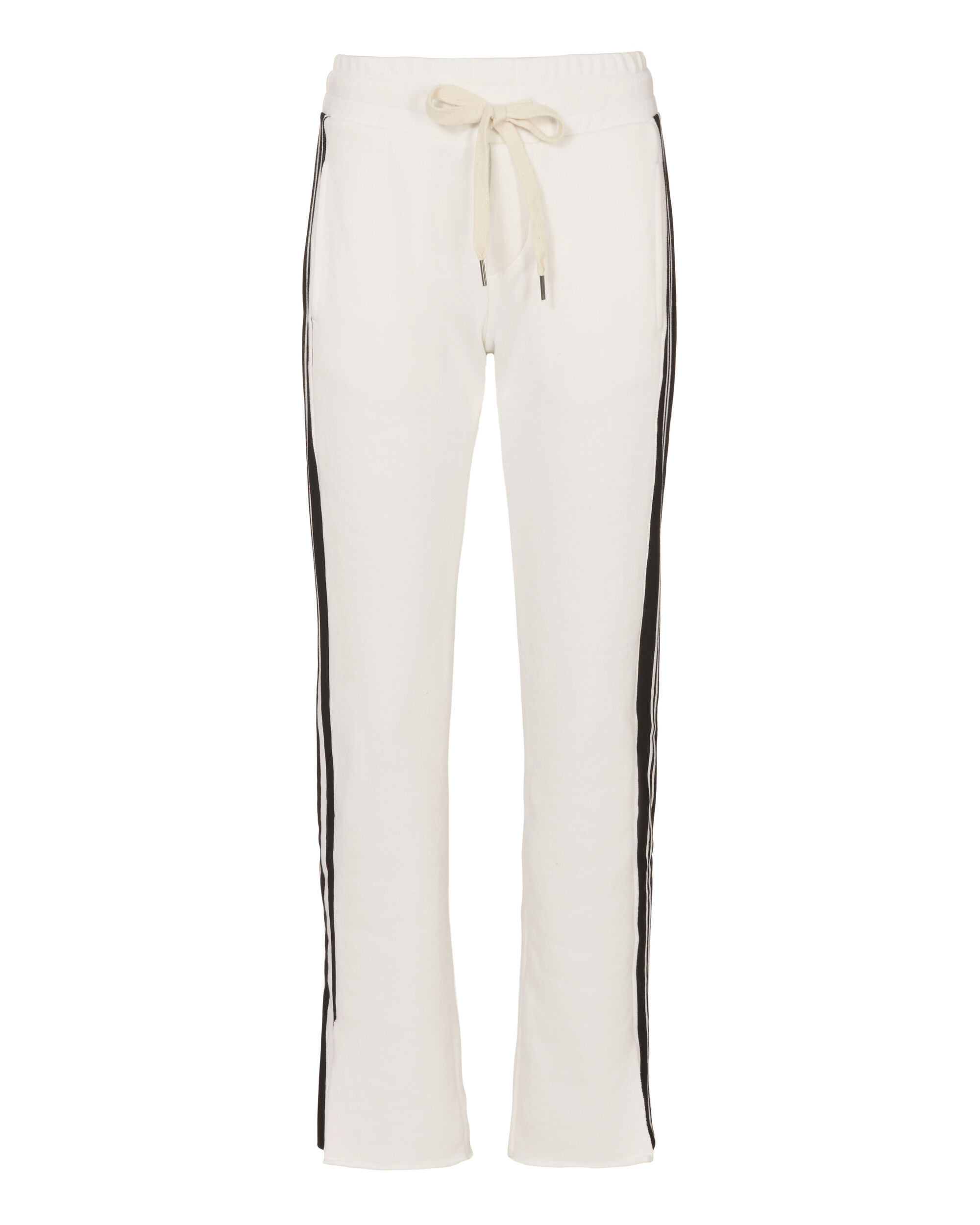 Striped Rib Track Pants, WHITE, hi-res