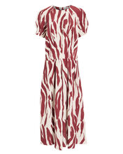 Dahlia Zebra Print Midi Dress, MULTI, hi-res