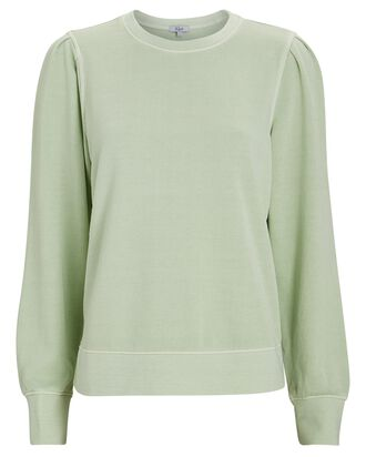 Marcie Puff Sleeve Sweatshirt, LIGHT GREEN, hi-res