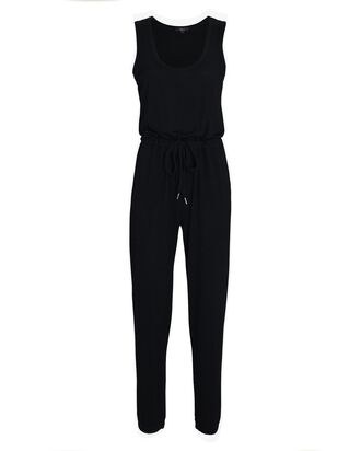Becky Sleeveless Lounge Jumpsuit, BLACK, hi-res