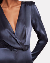 Colocasia Satin Cross Front Jumpsuit, INDIGO, hi-res
