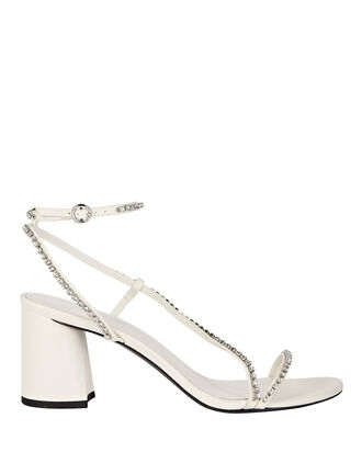 Drum Crystal-Embellished Sandals, WHITE, hi-res