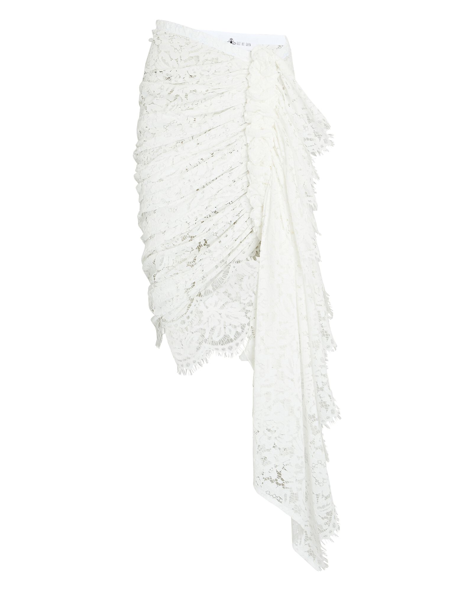 Tulum Ruched High-Low Skirt, WHITE, hi-res