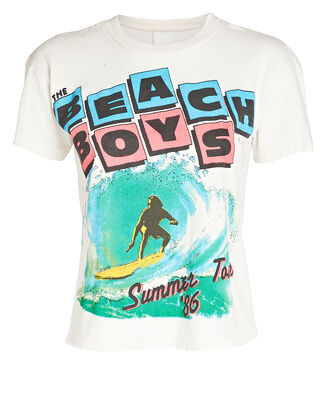Beach Boys Cropped T-Shirt, IVORY, hi-res