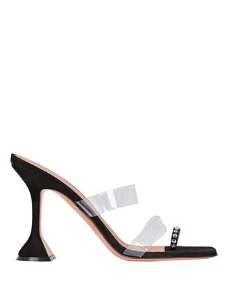 Sami PVC-Trimmed Leather Sandals, , hi-res