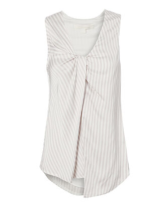 Stripe Twist Top, WHITE, hi-res