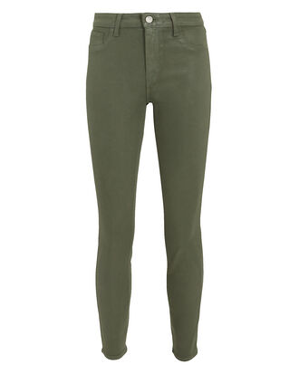Margot Coated Green Jeans, GREEN, hi-res