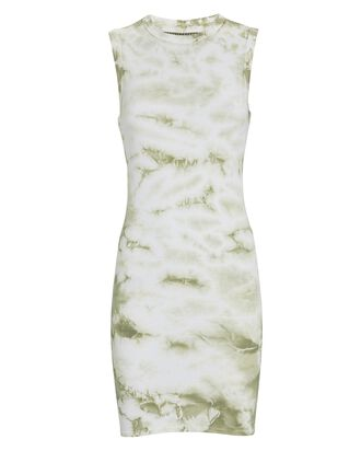 Silk Rib Tie-Dye Tank Dress, MULTI, hi-res