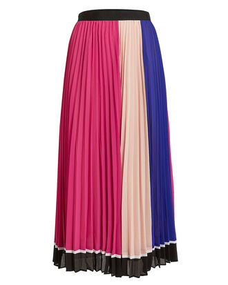 Multi Striped Chiffon Skirt, PINK/BLUSH/BLUE, hi-res