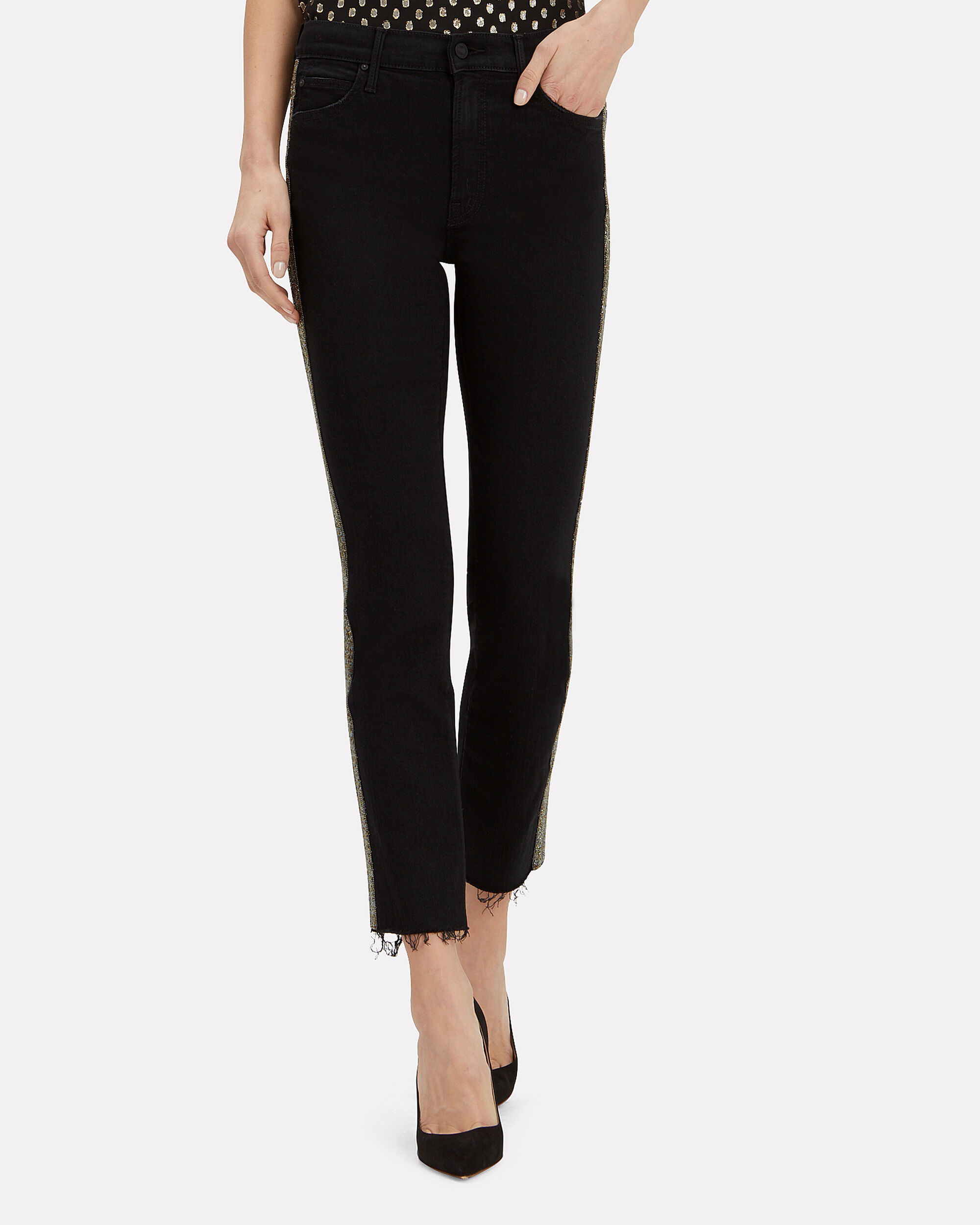 Rascal Beaded Stripe Jeans, BLACK DENIM, hi-res