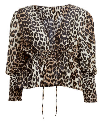 Leopard Puff Sleeve Top, MULTI, hi-res