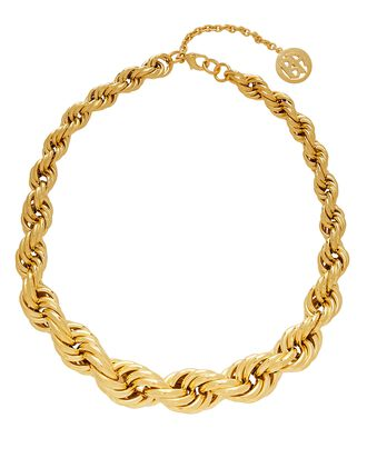 Chunky Rope Chain Necklace, GOLD, hi-res