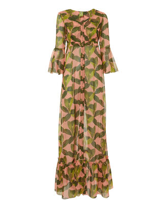 Chemisier Leaf-Printed Maxi Dress, MULTI, hi-res