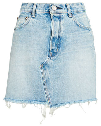 Wellington Denim Mini Skirt, DENIM-LT, hi-res