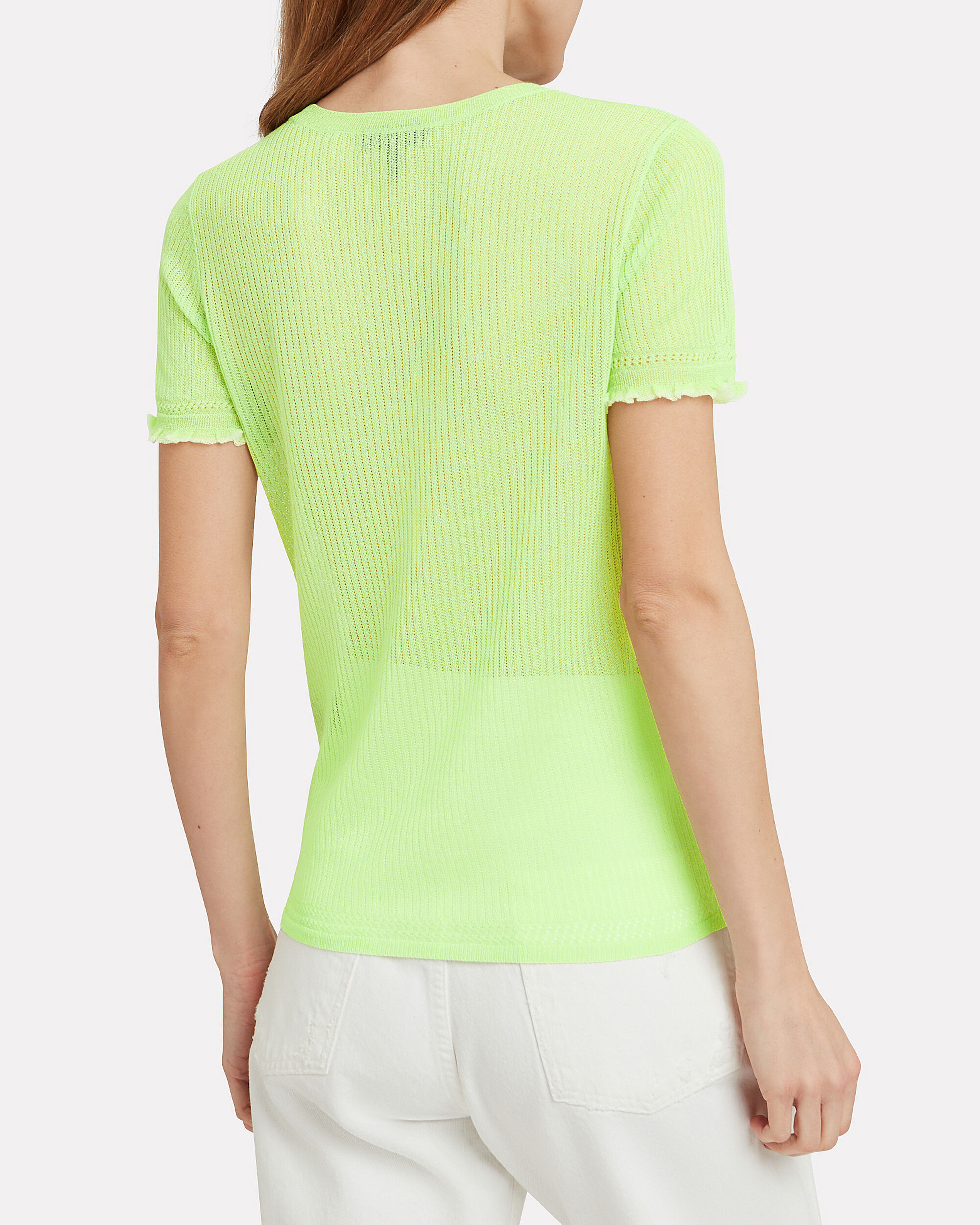 Breanne Knit T-Shirt, NEON GREEN, hi-res